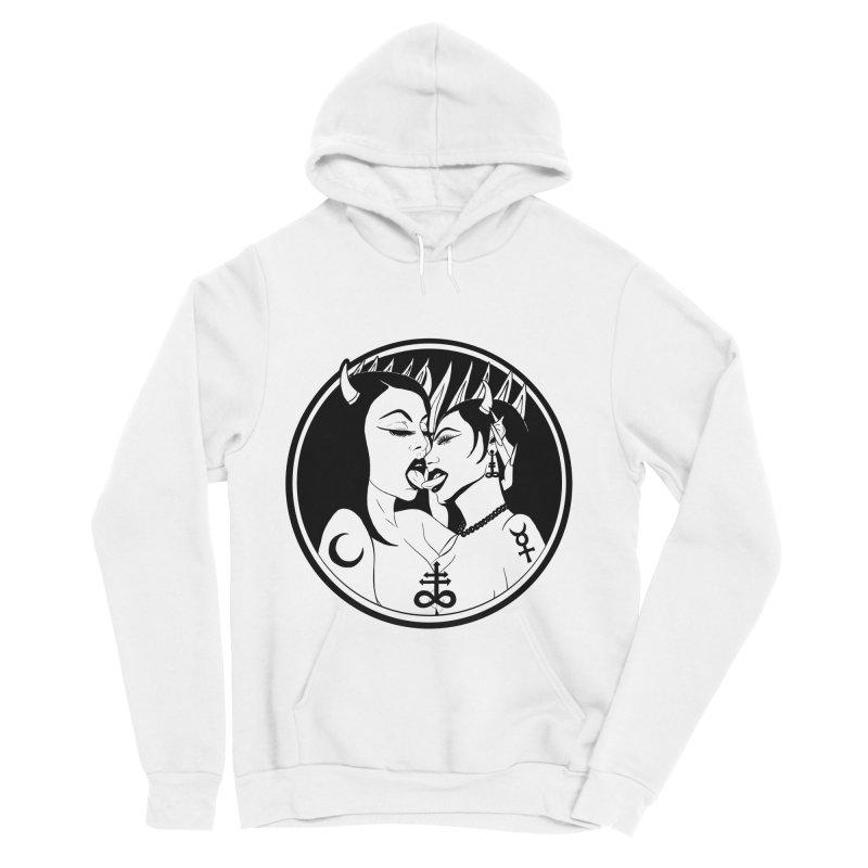 DEVILS KISS Men's Sponge Fleece Pullover Hoody by Hate Baby Comix Artist Shop