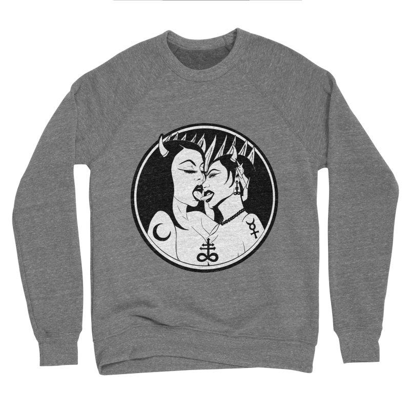 DEVILS KISS Women's Sponge Fleece Sweatshirt by Hate Baby Comix Artist Shop