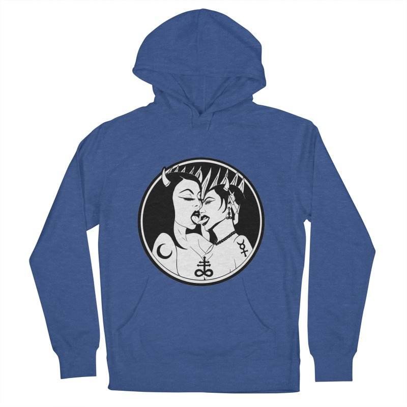 DEVILS KISS Men's French Terry Pullover Hoody by Hate Baby Comix Artist Shop