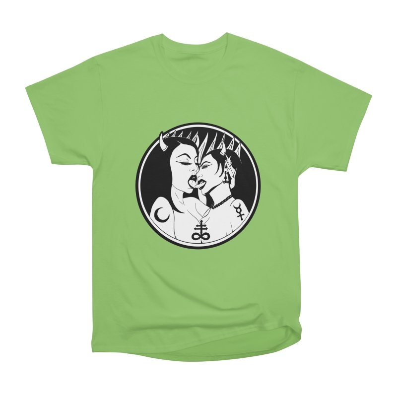 DEVILS KISS Men's Heavyweight T-Shirt by Hate Baby Comix Artist Shop