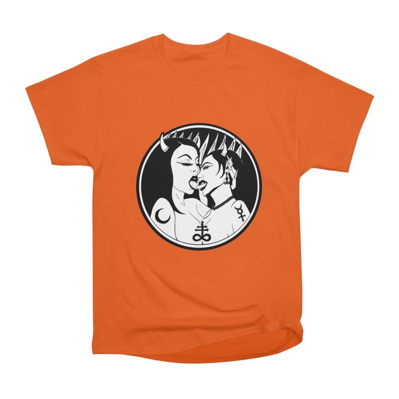 DEVILS KISS Women's Heavyweight Unisex T-Shirt by Hate Baby Comix Artist Shop