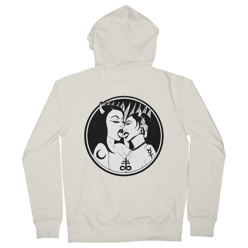 DEVILS KISS Men's French Terry Zip-Up Hoody by Hate Baby Comix Artist Shop