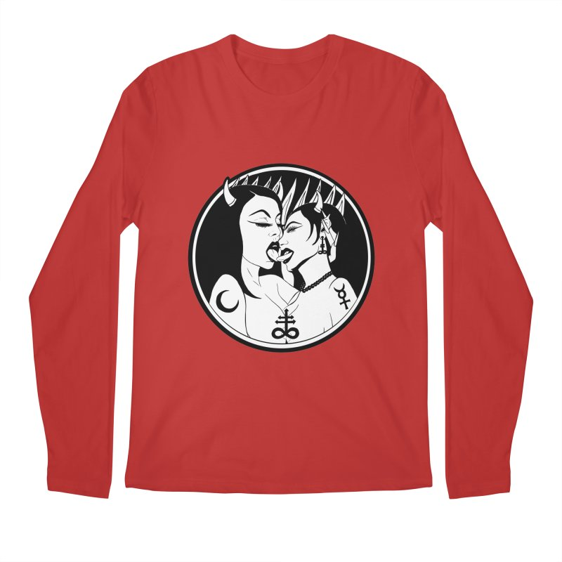DEVILS KISS Men's Regular Longsleeve T-Shirt by Hate Baby Comix Artist Shop