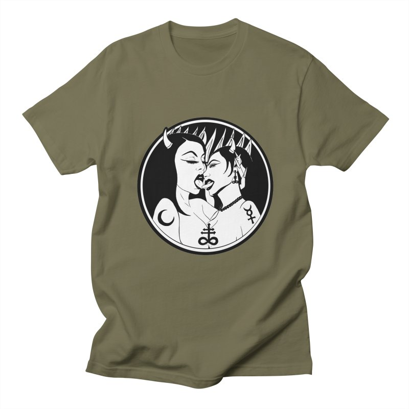 DEVILS KISS Women's Regular Unisex T-Shirt by Hate Baby Comix Artist Shop