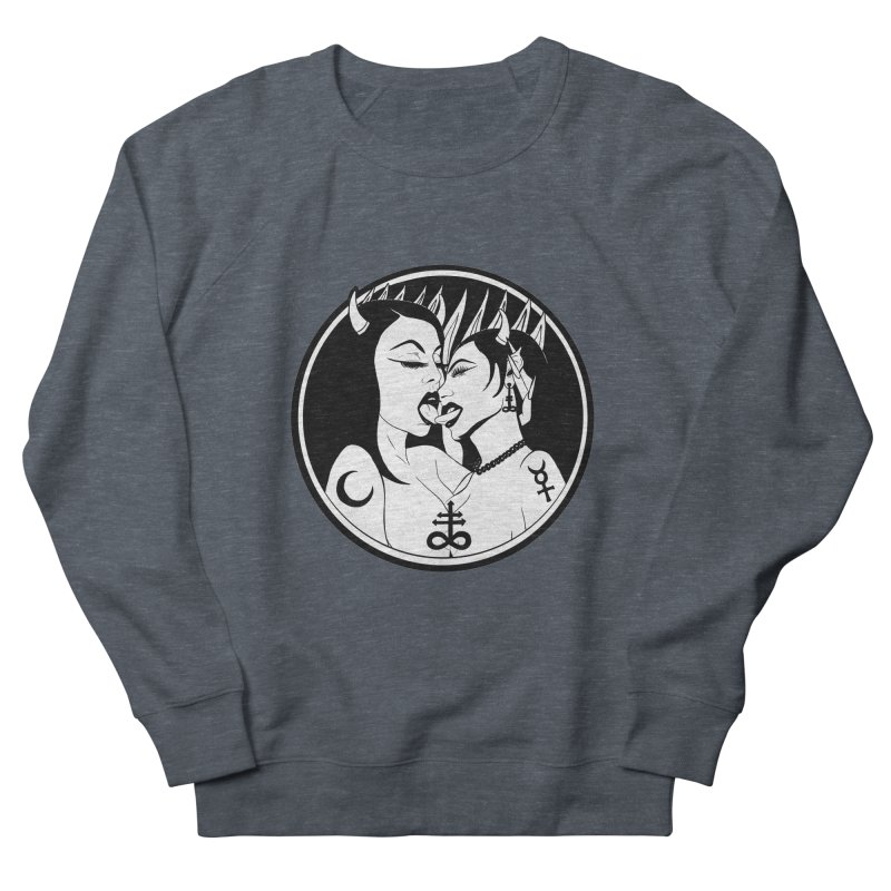 DEVILS KISS Women's French Terry Sweatshirt by Hate Baby Comix Artist Shop