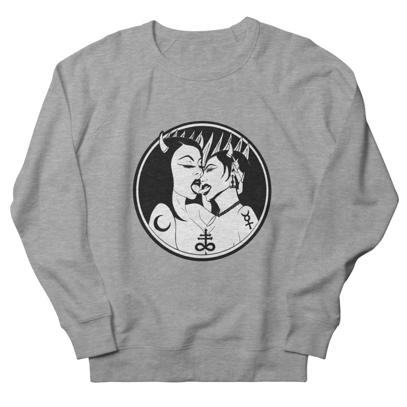 DEVILS KISS Men's French Terry Sweatshirt by Hate Baby Comix Artist Shop