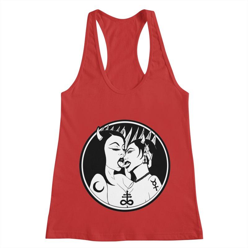 DEVILS KISS Women's Racerback Tank by Hate Baby Comix Artist Shop