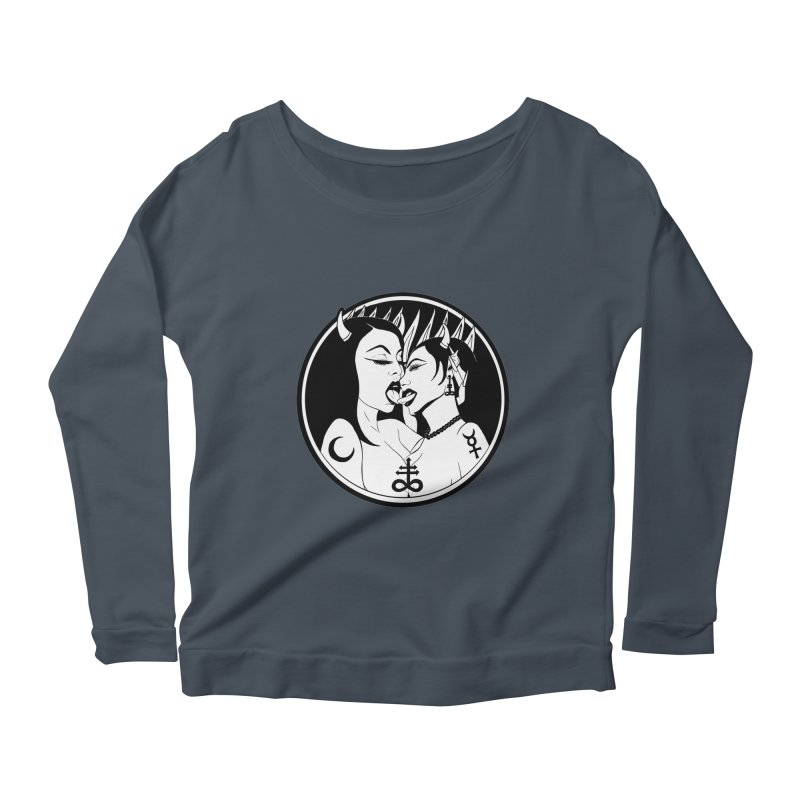 DEVILS KISS Women's Scoop Neck Longsleeve T-Shirt by Hate Baby Comix Artist Shop
