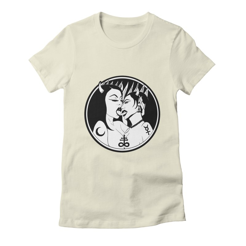 DEVILS KISS Women's Fitted T-Shirt by Hate Baby Comix Artist Shop