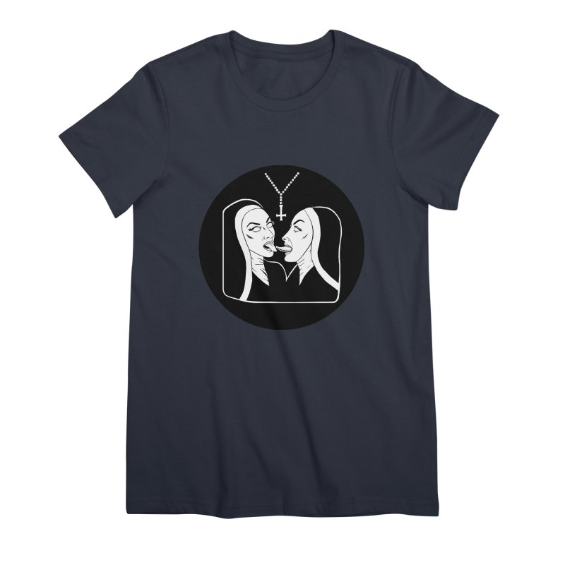 TONGUING NUNS CIRCLE Women's Premium T-Shirt by Hate Baby Comix Artist Shop