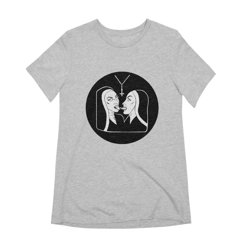 TONGUING NUNS CIRCLE Women's Extra Soft T-Shirt by Hate Baby Comix Artist Shop