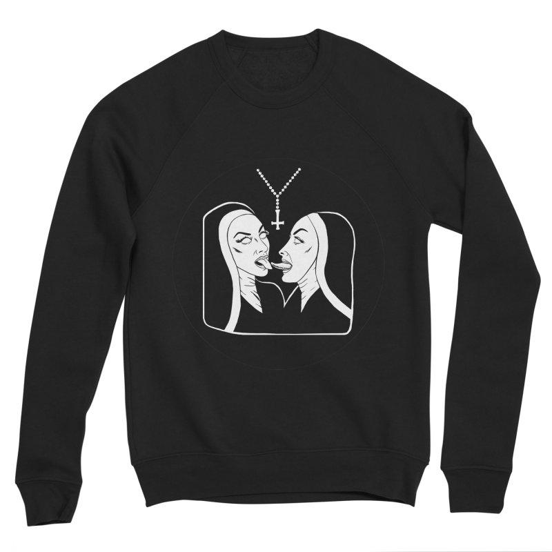 TONGUING NUNS CIRCLE Men's Sponge Fleece Sweatshirt by Hate Baby Comix Artist Shop