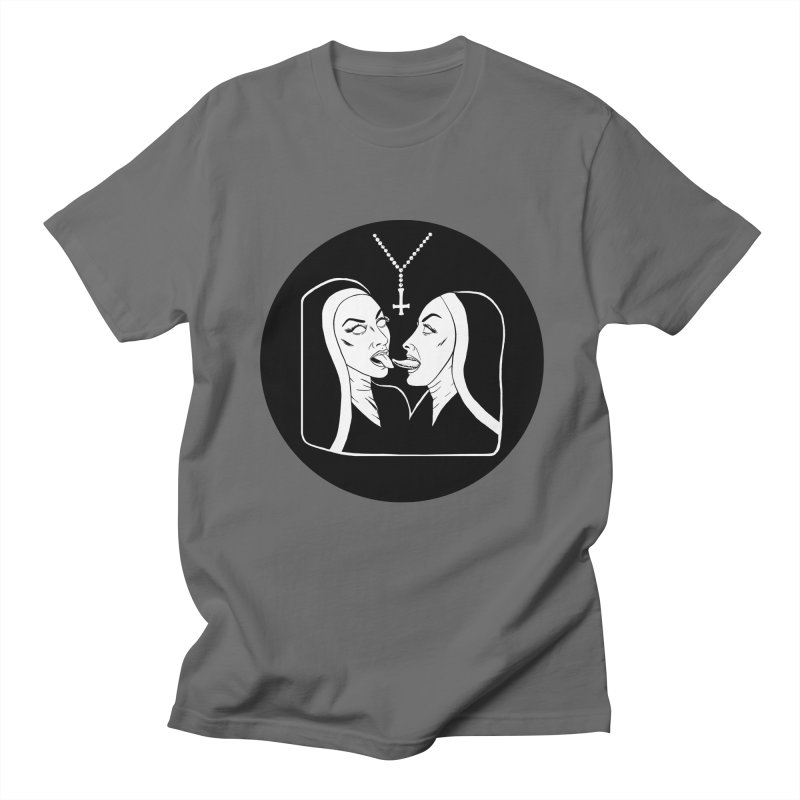 TONGUING NUNS CIRCLE Men's T-Shirt by Hate Baby Comix Artist Shop