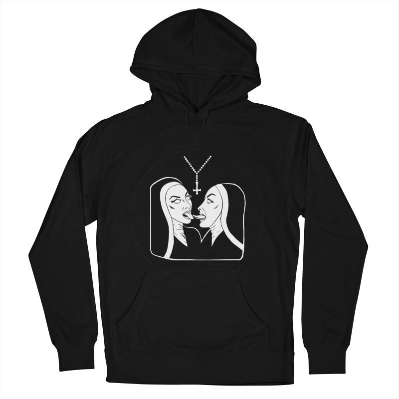 TONGUING NUNS CIRCLE Women's French Terry Pullover Hoody by Hate Baby Comix Artist Shop