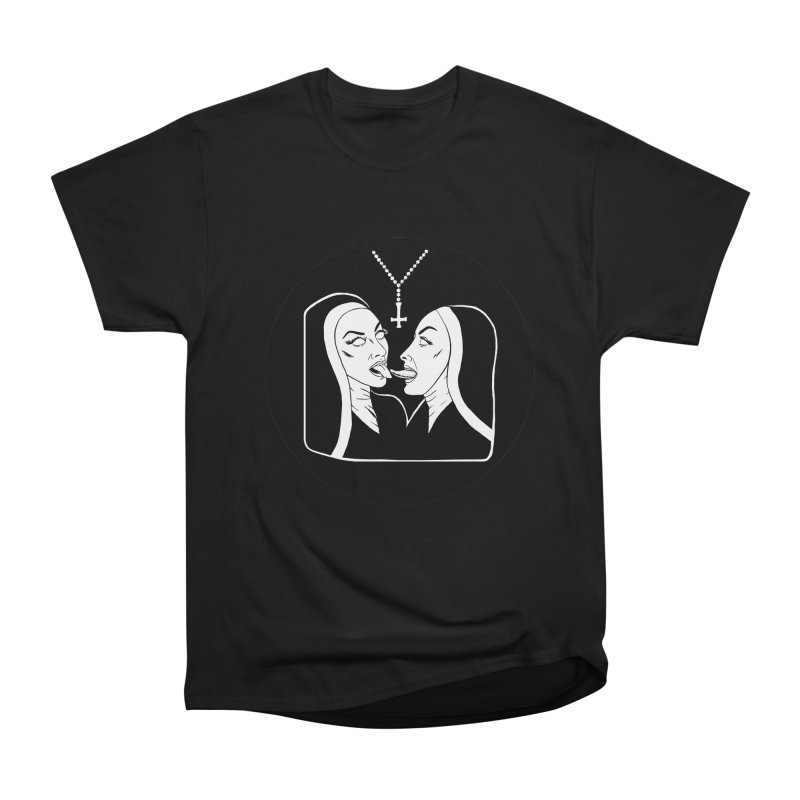 TONGUING NUNS CIRCLE Men's Heavyweight T-Shirt by Hate Baby Comix Artist Shop