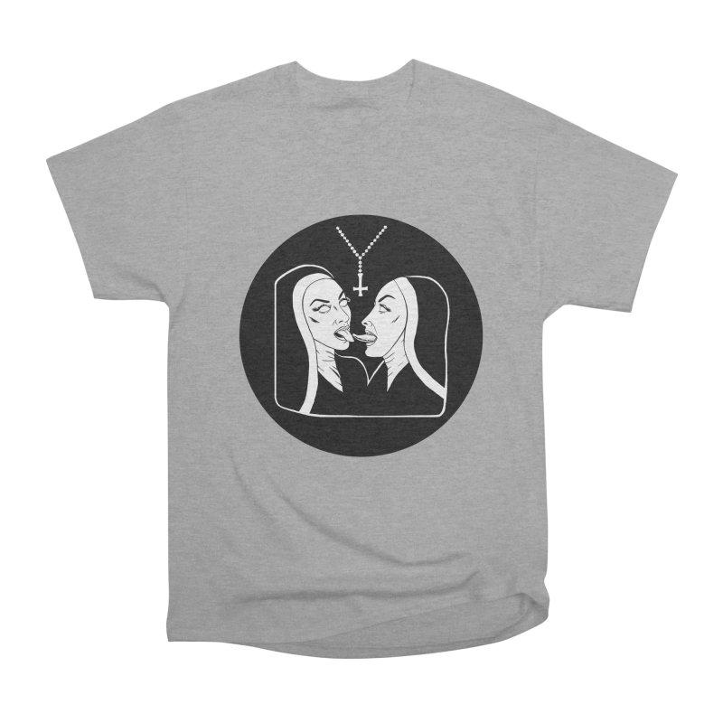 TONGUING NUNS CIRCLE Women's Heavyweight Unisex T-Shirt by Hate Baby Comix Artist Shop