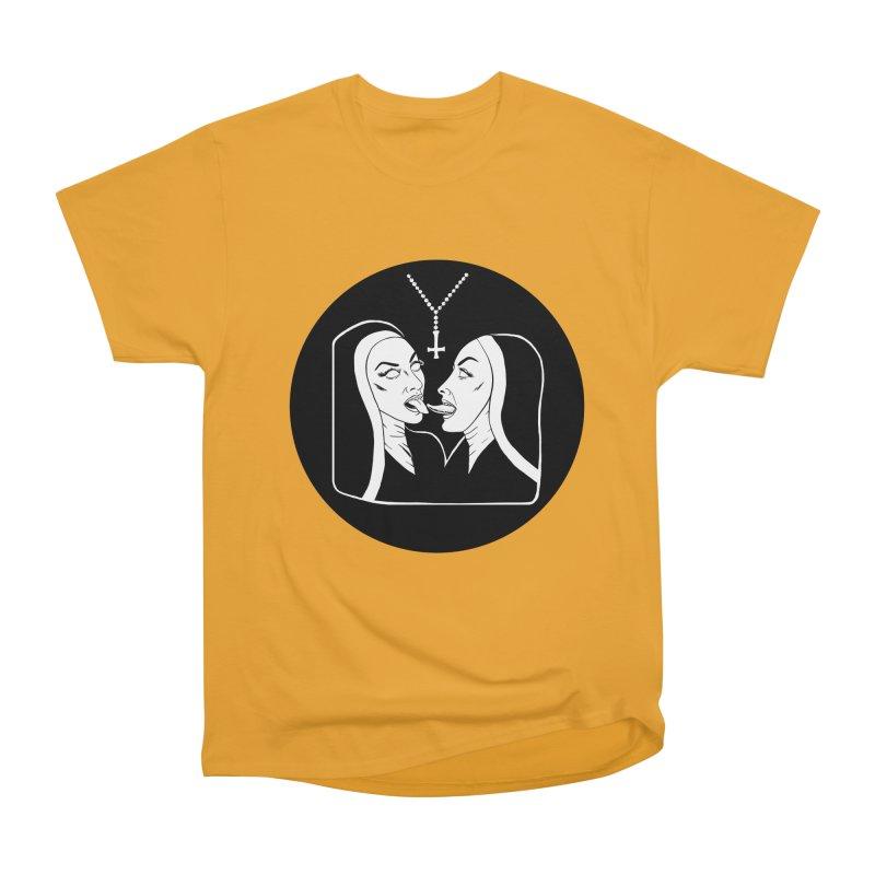 TONGUING NUNS CIRCLE Men's Heavyweight T-Shirt by Hate Baby Comix Artist Shop