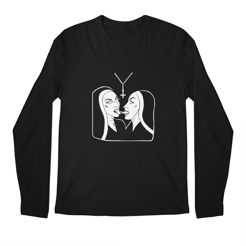 TONGUING NUNS CIRCLE Men's Regular Longsleeve T-Shirt by Hate Baby Comix Artist Shop