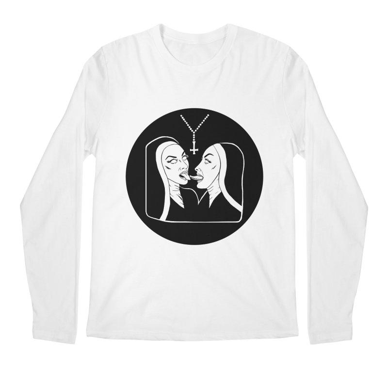 TONGUING NUNS CIRCLE Men's Regular Longsleeve T-Shirt by Hate Baby Comix Artist Shop