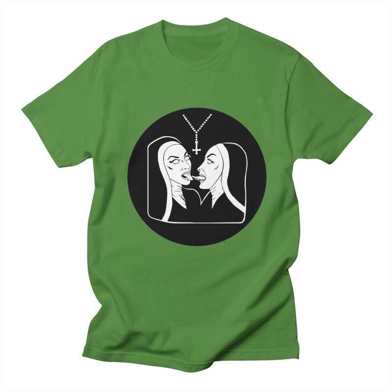 TONGUING NUNS CIRCLE Men's Regular T-Shirt by Hate Baby Comix Artist Shop