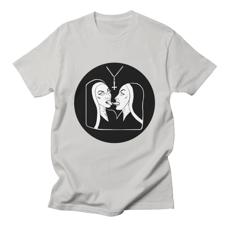 TONGUING NUNS CIRCLE Women's Regular Unisex T-Shirt by Hate Baby Comix Artist Shop