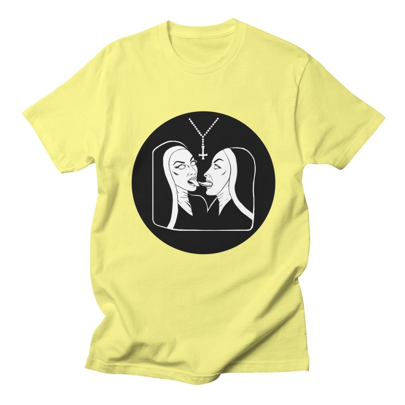 TONGUING NUNS CIRCLE Men's Regular T-Shirt by Hate Baby Comix Artist Shop
