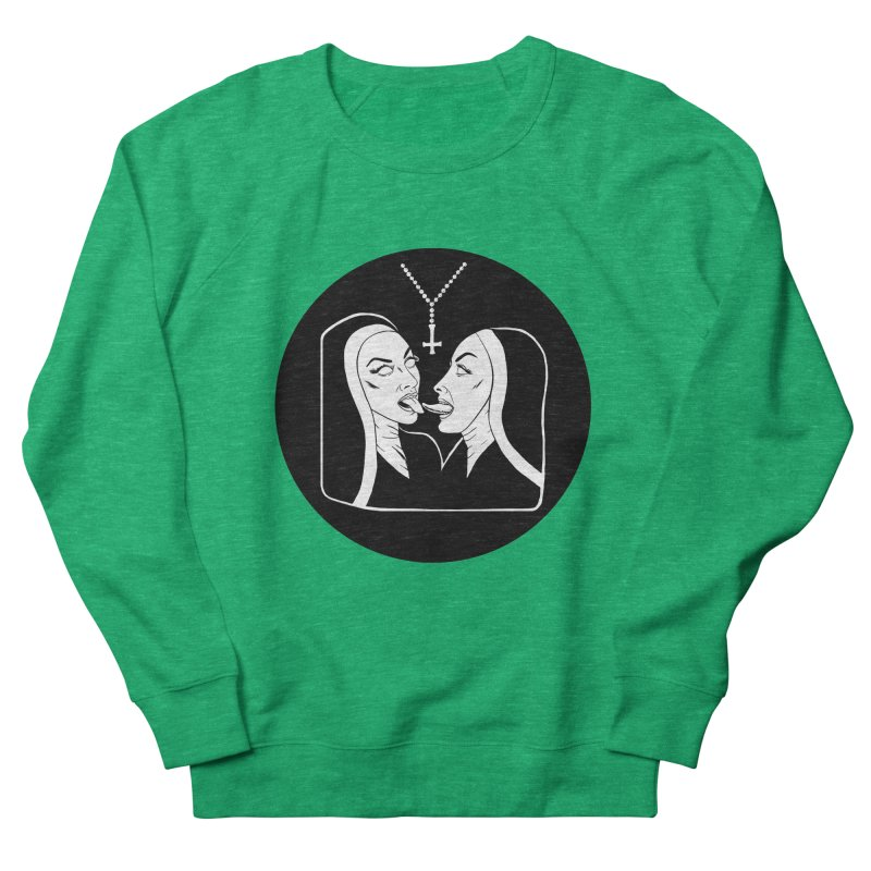 TONGUING NUNS CIRCLE Women's Sweatshirt by Hate Baby Comix Artist Shop