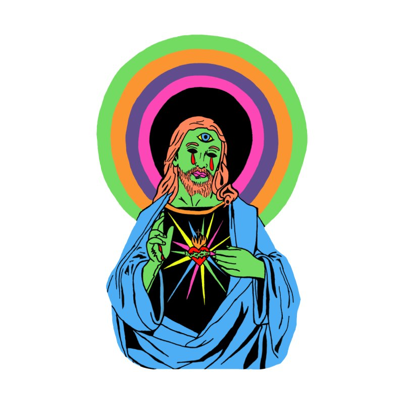 BLACKLIGHT JESUS Men's Sweatshirt by Hate Baby Comix Artist Shop
