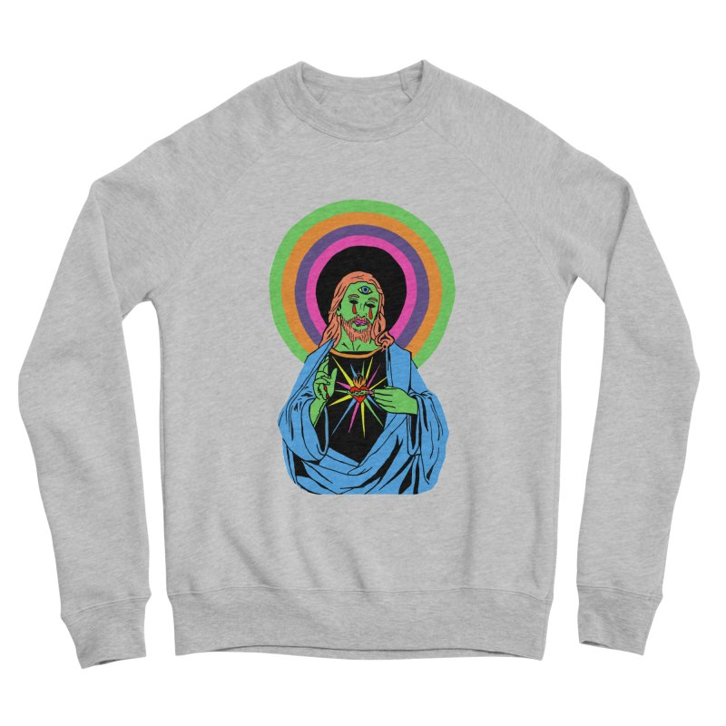 BLACKLIGHT JESUS Men's Sponge Fleece Sweatshirt by Hate Baby Comix Artist Shop