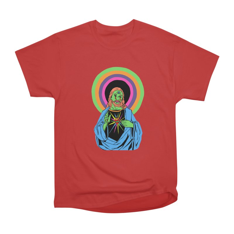 BLACKLIGHT JESUS Women's Heavyweight Unisex T-Shirt by Hate Baby Comix Artist Shop
