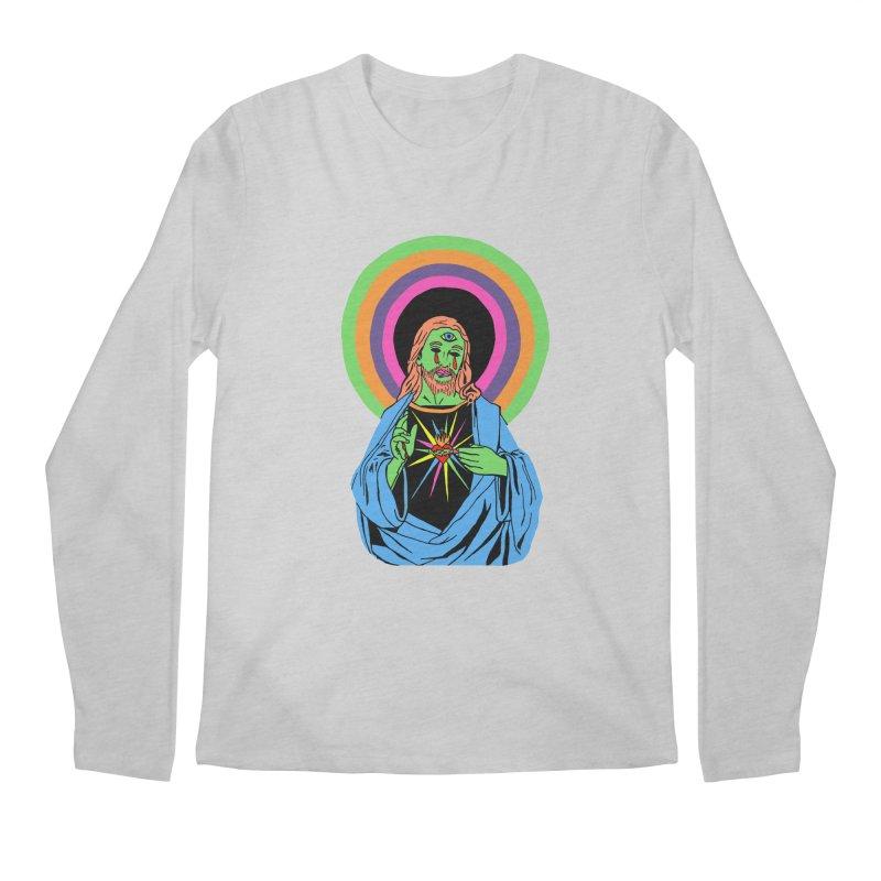 BLACKLIGHT JESUS Men's Regular Longsleeve T-Shirt by Hate Baby Comix Artist Shop