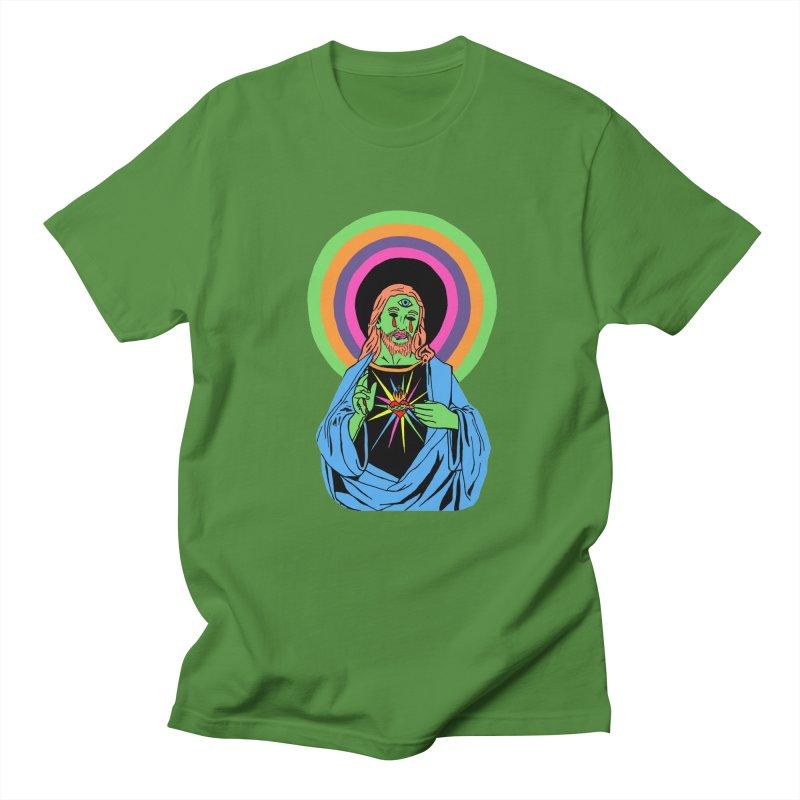 BLACKLIGHT JESUS Men's T-Shirt by Hate Baby Comix Artist Shop