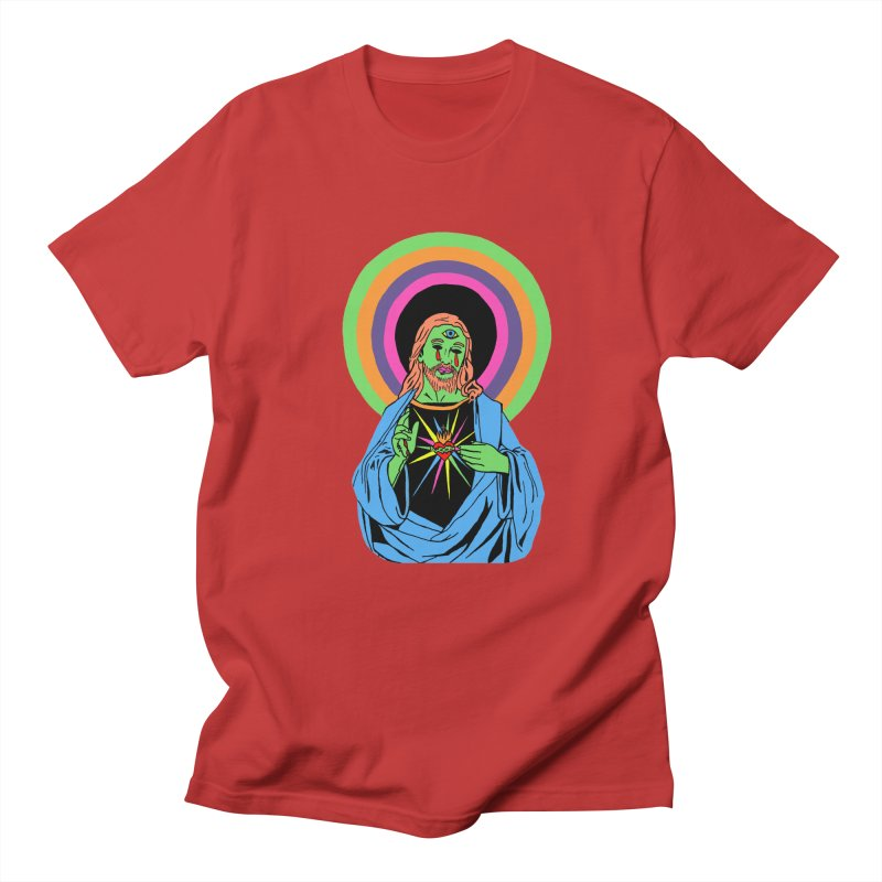 BLACKLIGHT JESUS Women's Regular Unisex T-Shirt by Hate Baby Comix Artist Shop