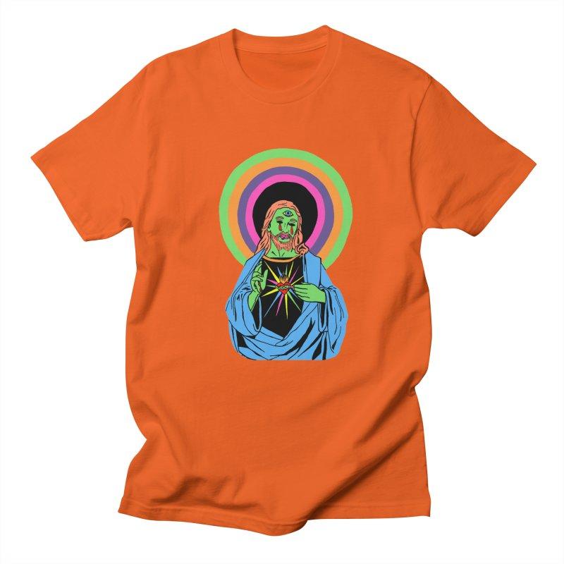 BLACKLIGHT JESUS Men's Regular T-Shirt by Hate Baby Comix Artist Shop