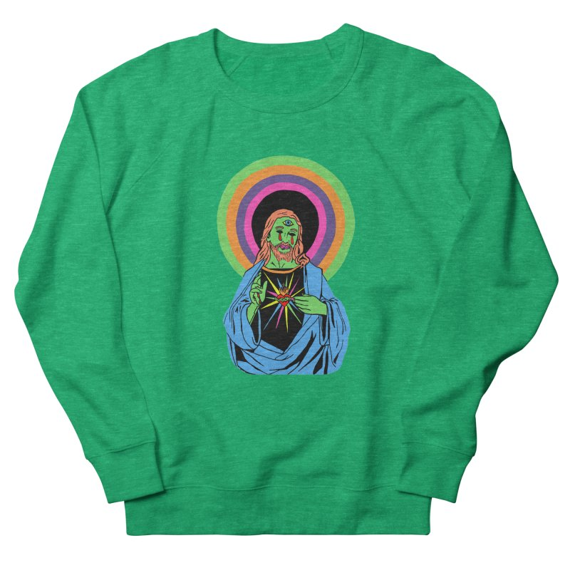 BLACKLIGHT JESUS Women's Sweatshirt by Hate Baby Comix Artist Shop