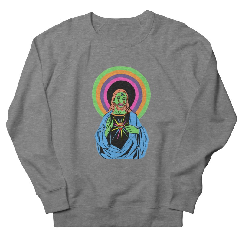 BLACKLIGHT JESUS Women's French Terry Sweatshirt by Hate Baby Comix Artist Shop