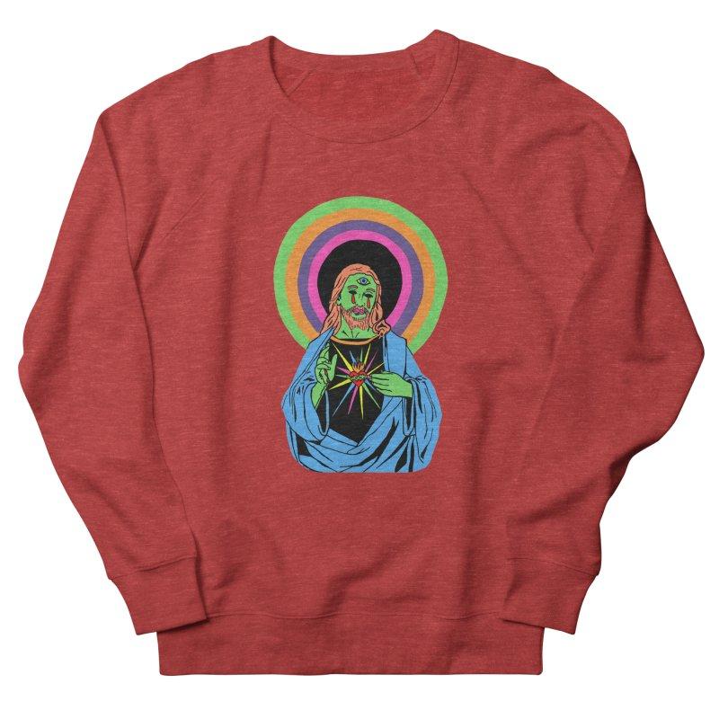 BLACKLIGHT JESUS Men's French Terry Sweatshirt by Hate Baby Comix Artist Shop
