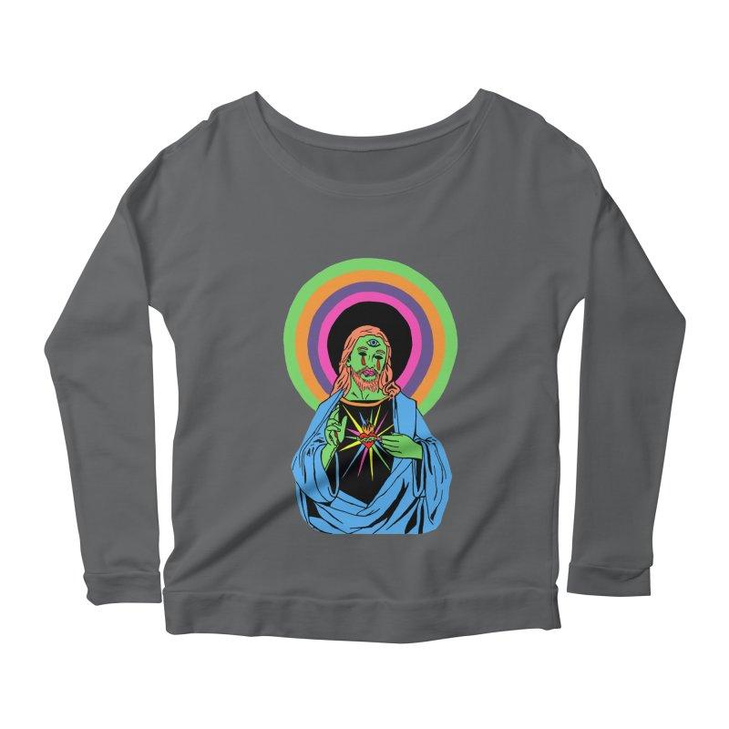 BLACKLIGHT JESUS Women's Longsleeve T-Shirt by Hate Baby Comix Artist Shop