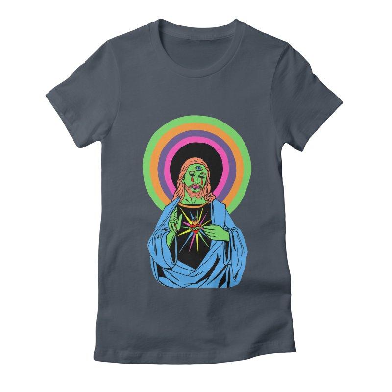 BLACKLIGHT JESUS Women's T-Shirt by Hate Baby Comix Artist Shop