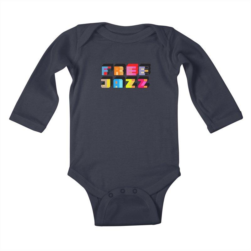Free Jazz Kids Baby Longsleeve Bodysuit by Cornerstore Classics