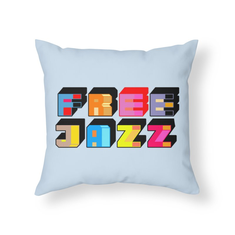 Free Jazz Home Throw Pillow by Cornerstore Classics