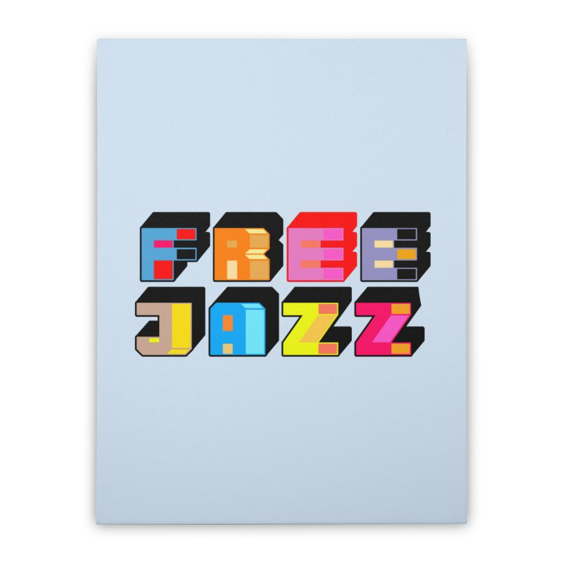 Free Jazz Home Stretched Canvas by Cornerstore Classics