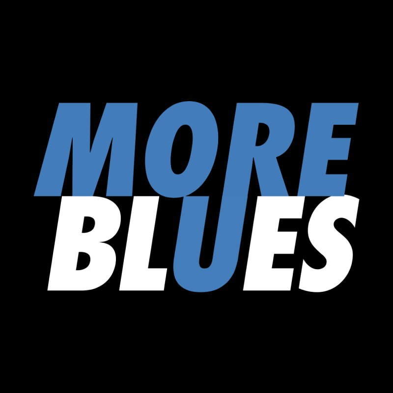 More Blues Accessories Button by Cornerstore Classics