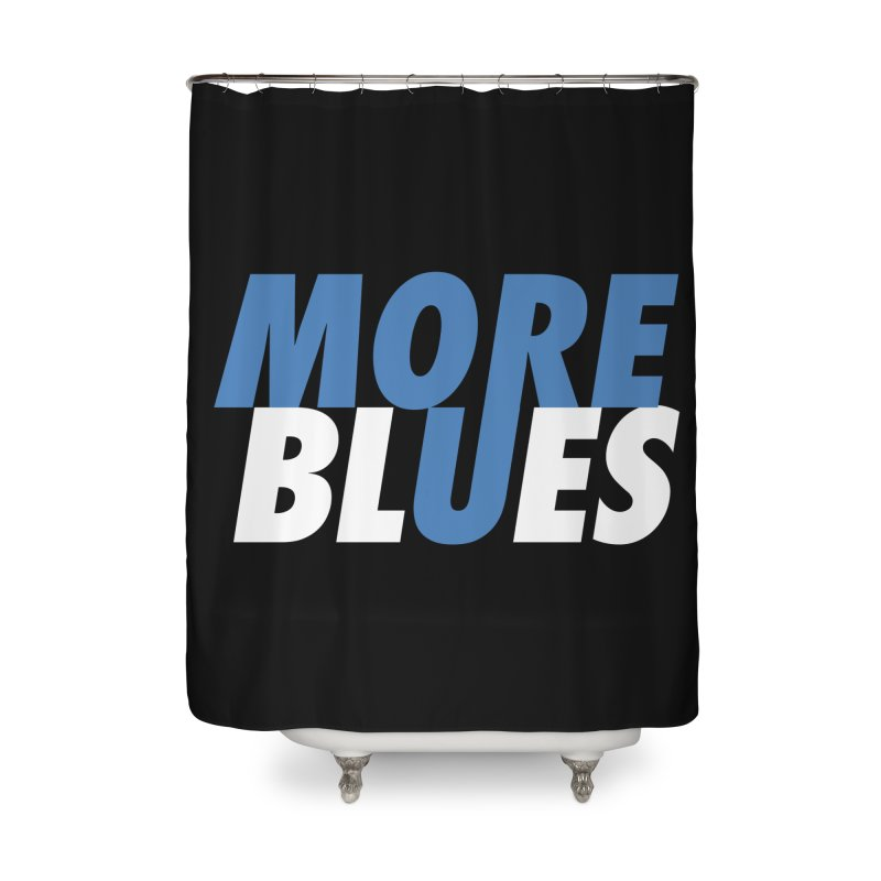 More Blues Home Shower Curtain by Cornerstore Classics