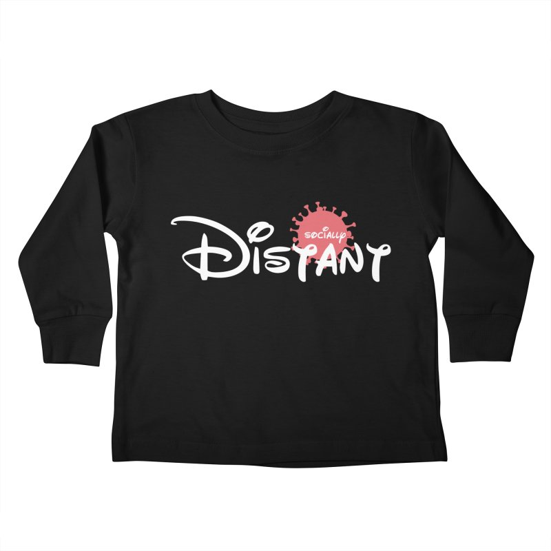 Socially Distant Kids Toddler Longsleeve T-Shirt by Cornerstore Classics