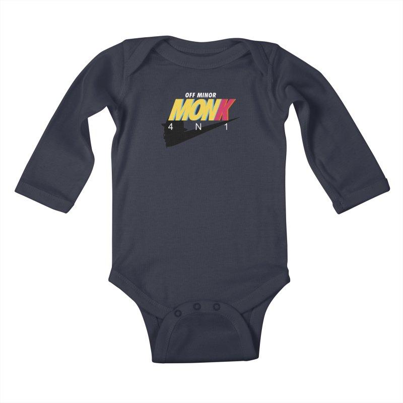 Air Monk 4N1 Kids Baby Longsleeve Bodysuit by Cornerstore Classics