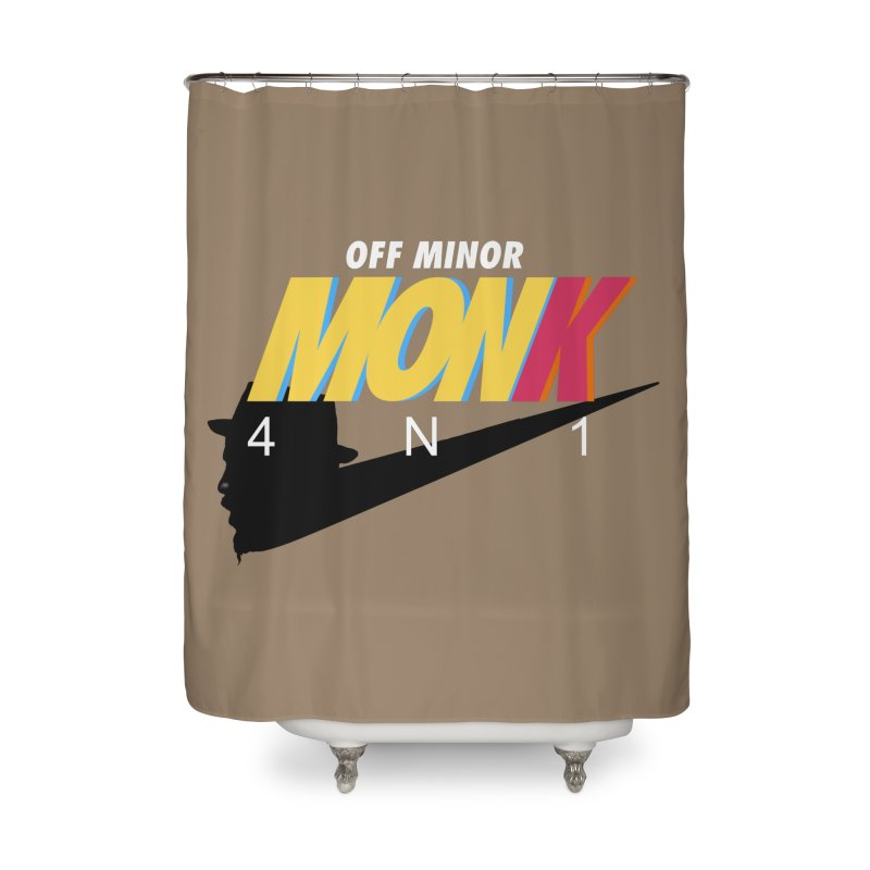 Air Monk 4N1 Home Shower Curtain by Cornerstore Classics