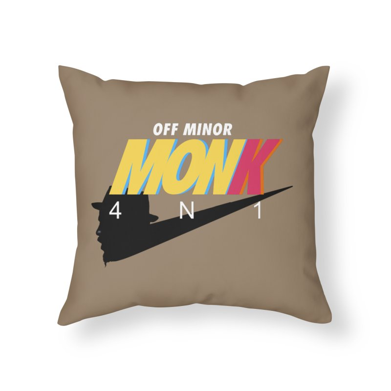 Air Monk 4N1 Home Throw Pillow by Cornerstore Classics