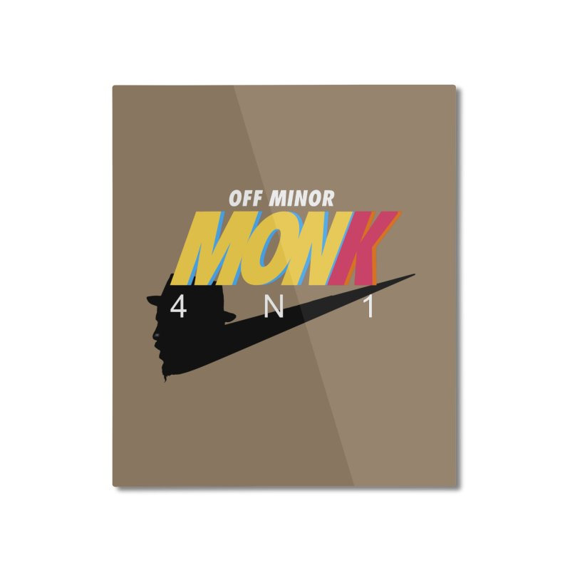 Air Monk 4N1 Home Mounted Aluminum Print by Cornerstore Classics