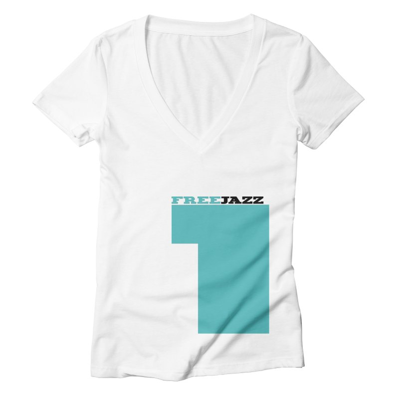 FREE JAZZ TRANE Women's V-Neck by Cornerstore Classics
